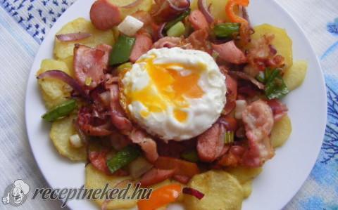Gyors serpenyős ham & eggs