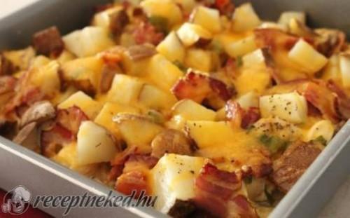 Csirkés rakott krumpli recept
