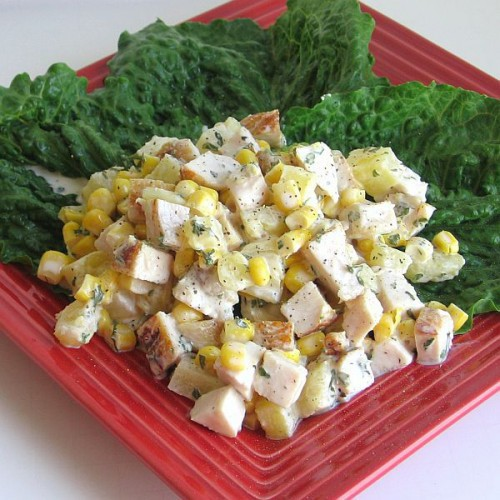 Csirkés kukoricasaláta