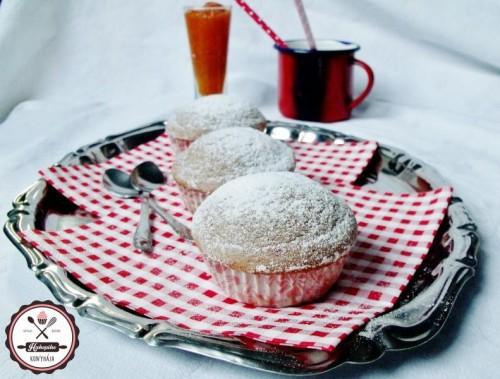 Sütőben sült muffin-fánkok