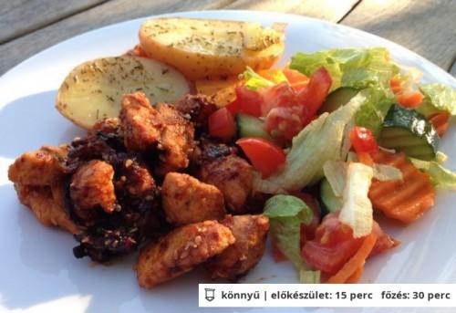 Fűszeres csirkemell falatok