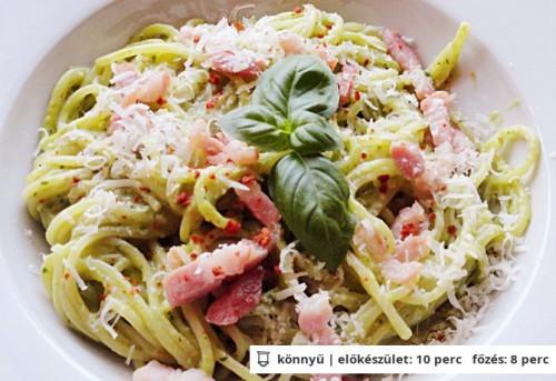 Spagetti avokádószósszal