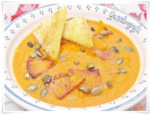 Fokhagymás Sütőtök krém leves