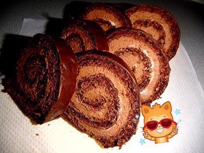 Csokikrémes diós tekercs PALEO