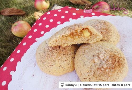 Fahéjas-almás töltött keksz