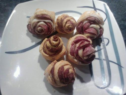 Baconos vagy szalámis rózsa