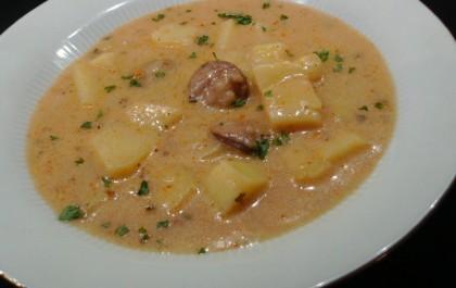 Magyaros burgonya leves
