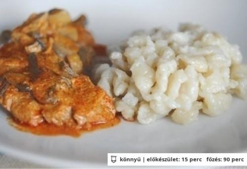 Bakonyi sertésszelet recept