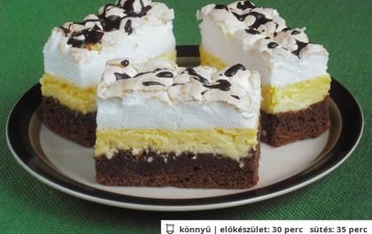 Kanalas habos-túrós sütemény