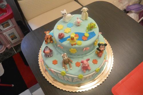 Állat-figurás torta
