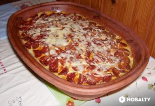 Rakott zöldbab fűszeres darált hússal recept