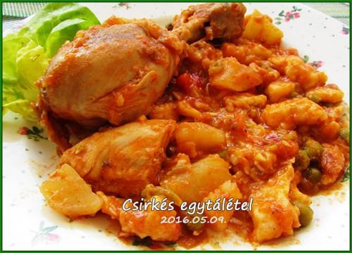 Csirkés egytál-étel