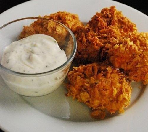 Csirke cornflakes bundában