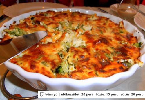 Brokkolis-sajtos sült burgonyapüré (ny)