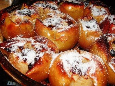 Mazsolás-fahéjas sült alma