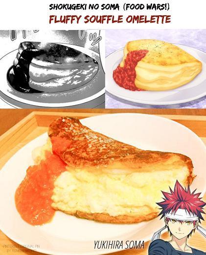 Shokugeki no Soma- Szuflé omlett