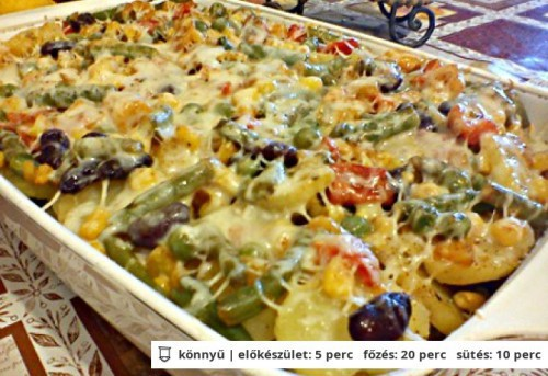 Zöldséges tepsis krumpli