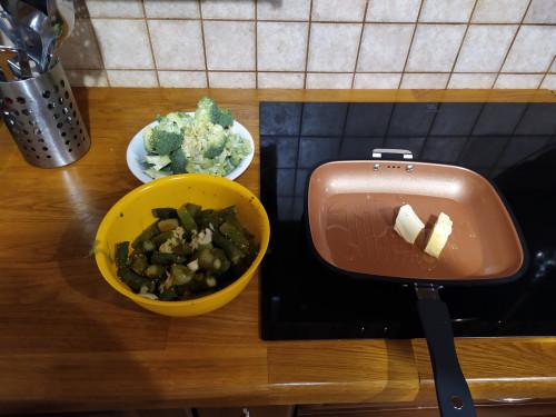 Párolt spárga brokkolival
