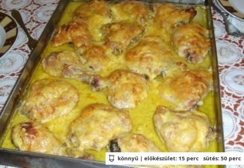Tejszines csirkemell