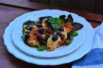Olívás-krémsajtos csirkemell