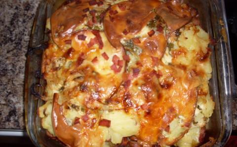 Fokhagymás rakott krumpli